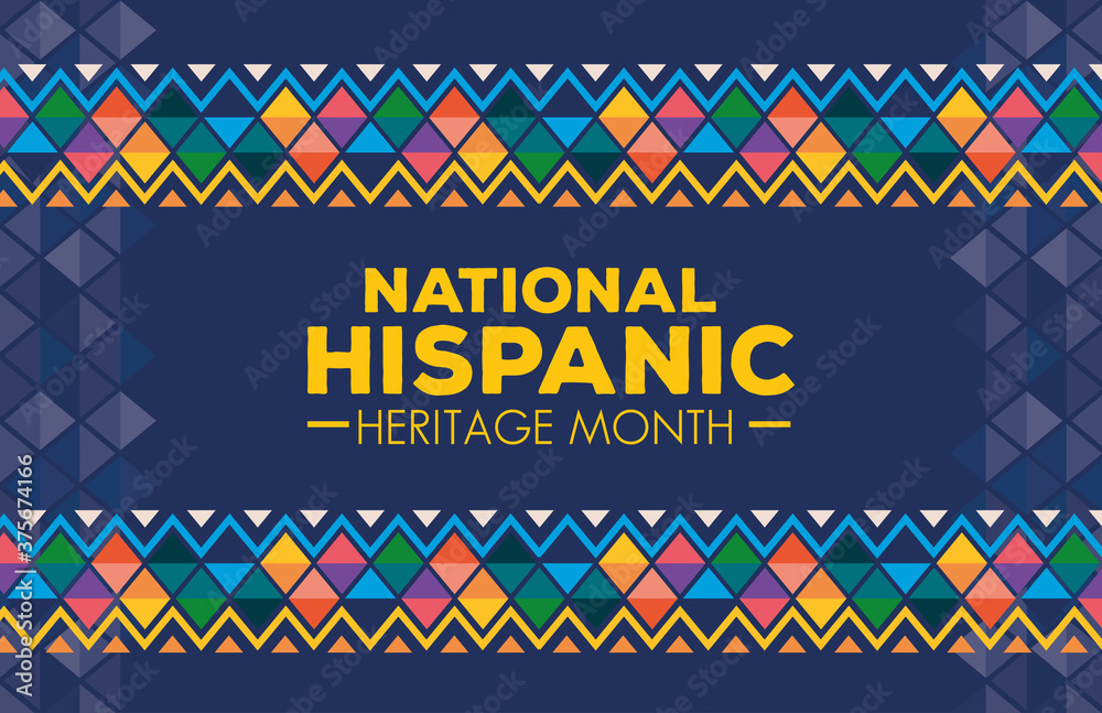 Fototapeta hispanic and latino americans culture, national hispanic heritage month in september and october, background or banner vector illustration design