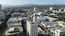 Santa Monica California City Aerial