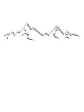 Wandern Berge Silhouette