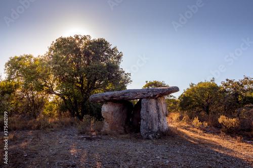 Dolmen in the Ardèche scrubland Fototapeta