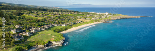 Tablou Canvas aerial panorama over maui's westside.