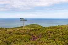 A Signpost On The Great Orme Mountain In Llandudno