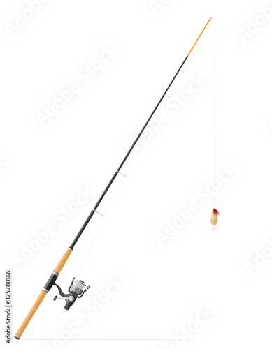 Fotografie, Obraz rod spinning for fishing vector illustration