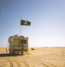 Camper With Pirate Flag, Parke...