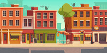 Urban Street Landscape With Sm...