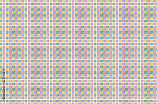 Canvastavla Patrón de espirales angulares en colores pastel