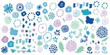 冬カラーの北欧風花柄