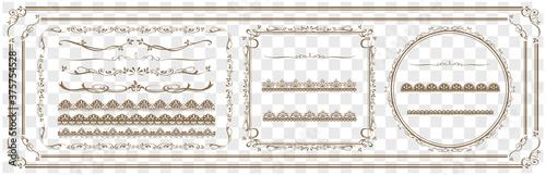 Fotografija decorative gold frame set Vector