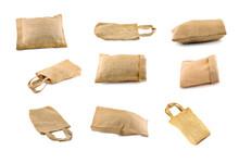 Bag Sackcloth An Isolated On W...