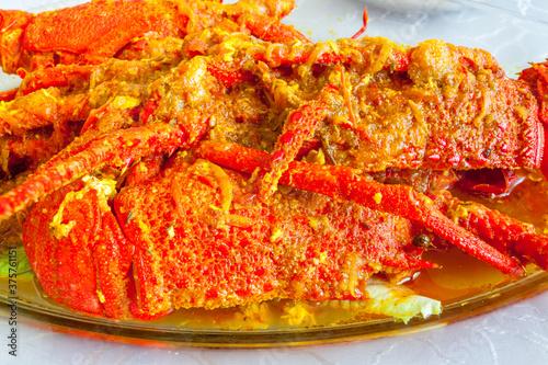 Cari de langoustes, gastronomie réunionnaise Canvas-taulu