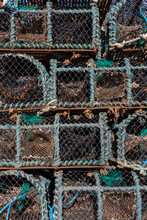 Lobster, Crab And Crayfish Traps Stacked To Dry