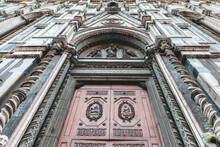 Lateral Entrance Of The Florence's Cathedral