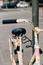 Vintage Bicycle With Hearts Stickers