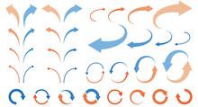 Illustration Set Of Curved Arr...