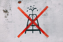 No Oil. Drawing On A Wall