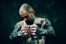 Tattooed Man Posing