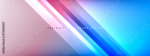 Foto Motion concept neon shiny lines on liquid color gradients abstract backgrounds