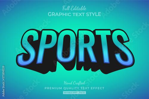 Fotografia Sports 3d Text Style Effect Premium