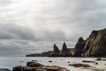 Sharp Rock Formations On The C...