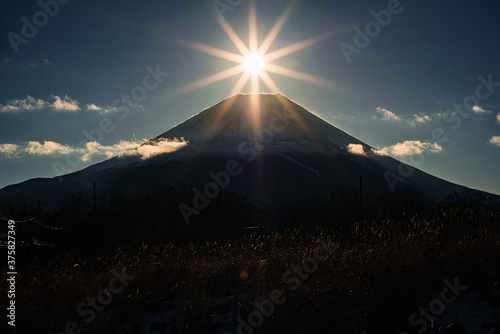 Fotografie, Obraz 朝霧高原からのダイヤモンド富士
