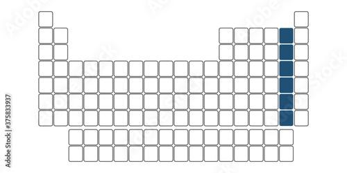 Obraz halogen group table of chemical elements vector illustration - fototapety do salonu