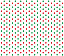 Red And Green Polka Dot Pattern. Vector Christmas Polka Dot.