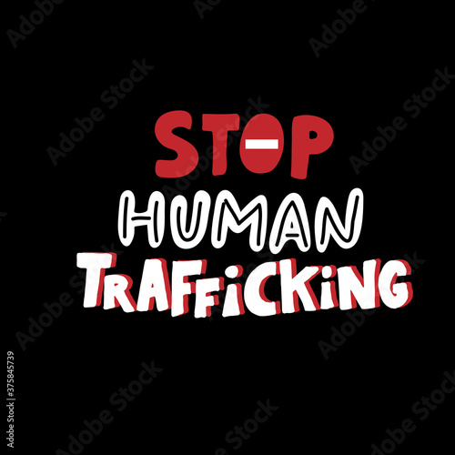 Stop human trafficking sign Fototapet
