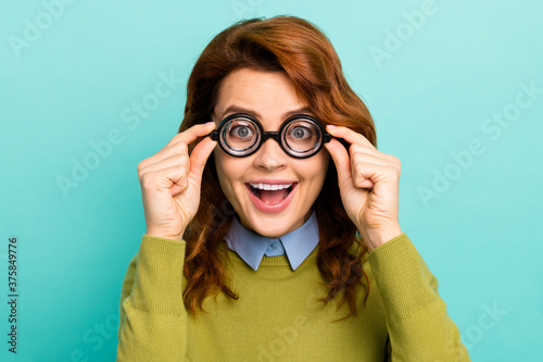 Fotografie, Obraz Close-up portrait of her she nice attractive overjoyed ecstatic creative cheerfu