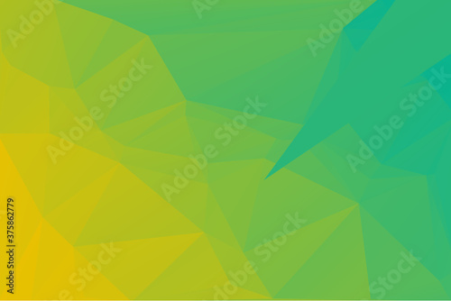 Lime Yellow & Green Abstract Low Poly Geometric Polygonal Background Vector Illu Canvas Print