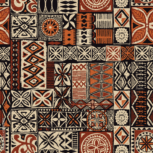 Tapety do jadalni  hawaiian-style-tapa-tribal-fabric-abstract-patchwork-vintage-vector-seamless-pattern