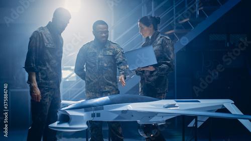 Canvastavla Army Aerospace Engineers Work On Unmanned Aerial Vehicle / Drone