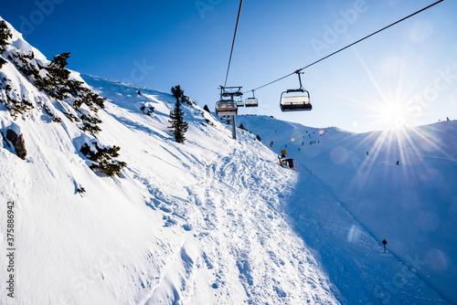 Foto Gondola lift on the snowy slopes of the Brenta Dolomites - Alps