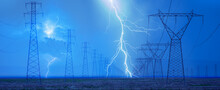 High Voltage Power Line With A...
