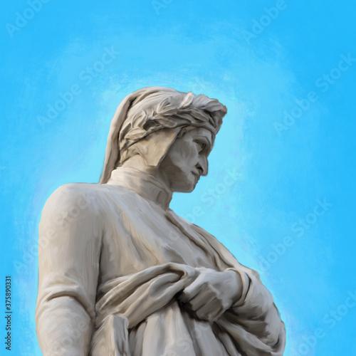 Photo portrait of the poet Dante Alighieri