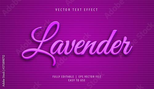 3D Lavender Text effect, Editable Text Style Canvas Print
