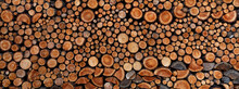 Stack Of Piled Up Fire Wood.