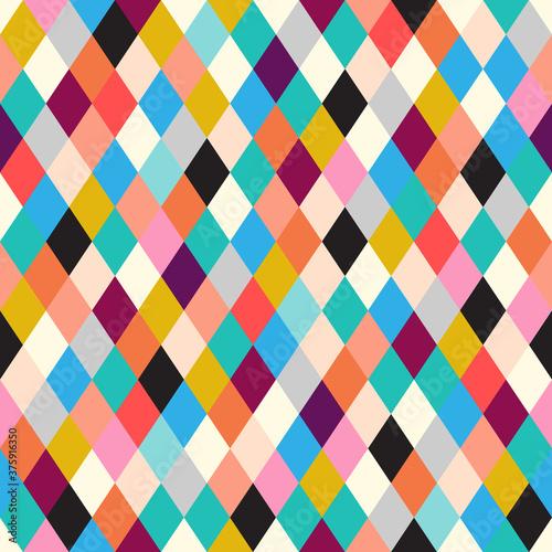 Slika na platnu Seamless rhombus background. Geometric background.