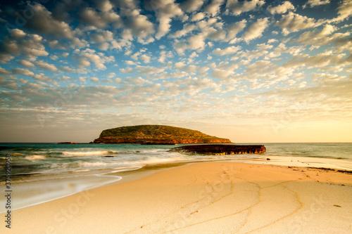 Playas de Comte. Sant Antoni de Portmany.Ibiza.Illes Balears.España.