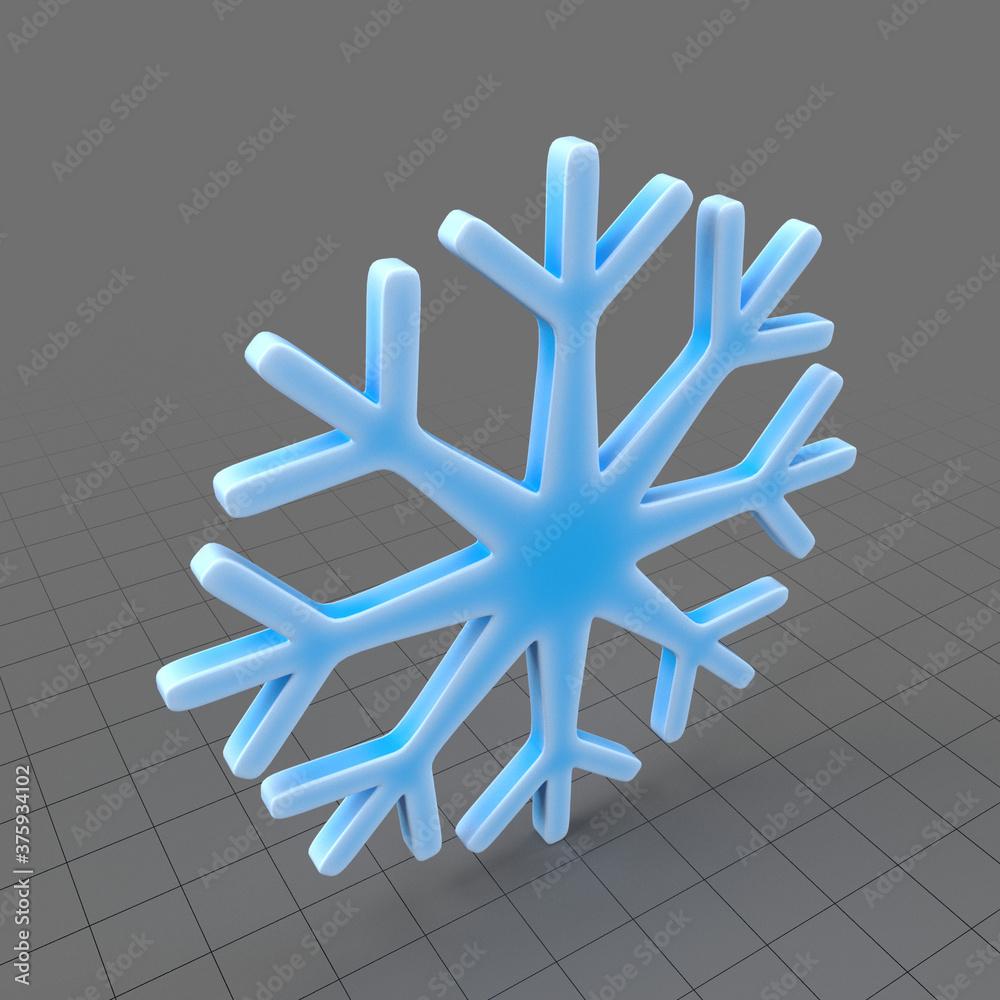 Fototapeta Snowflake symbol