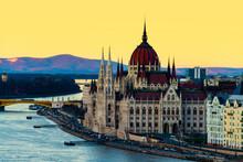 Aerial View Of Budapest, Hunga...