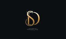 SD Or DS Letter Business Logo Design Alphabet Icon Vector Symbol