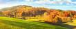 Leinwanddruck Bild Schwarzwald Landschaft Panorama - Tourismus im Herbst