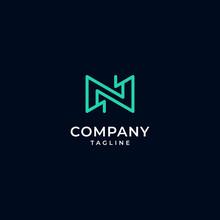 Initials Letter N Logo, Modern...