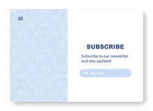Banner For Email Marketing. Subscription To Newsletter, News, Offers, Promotions. Template Or Mock Up. Subscribe. Popping Window For Website. Send By Mail. Follow Me. Blue. Eps 10