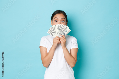 Photo Shopping, money and finance concept