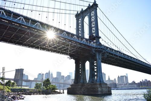 Fototapety, obrazy: Manhatan bridge new york