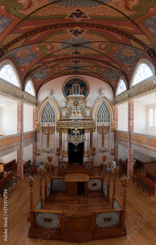 Valokuvatapetti Interior of a Mexican synagogue