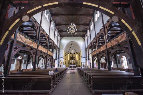 Fototapeta Kościół św. Józefa Oblubieńca, Wałbrzych Sobięcin, pow. wałbrzyski, woj. dolnośląskie - wnętrze obraz