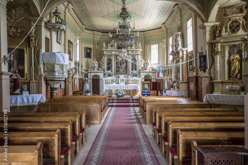 Fototapeta Kościół św. Jana Chrzciciela, Rębowo, pow. płocki, woj. mazowieckie - wnętrze obraz