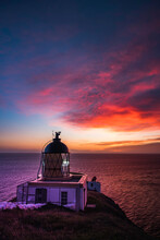 St Abbs Head Lighthouse At Dus...